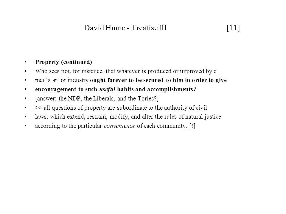 David Hume - Treatise III [11]